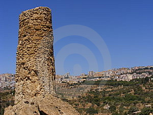 Agrigento Sicily-greek Temple Ruins Stock Image - Image: 8415211
