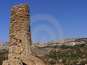 Agrigento Sicily-greek Temple Ruins Stock Image - Image: 8415211