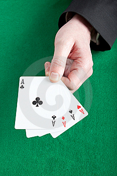 Holding All The Aces Stock Photography - Image: 8415262