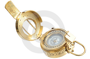 Old-fashioned Compass Royalty Free Stock Images - Image: 8417109