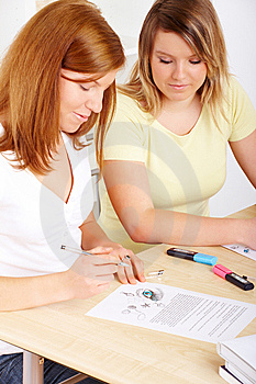 Students Learning At Desk Stock Photography - Image: 8417282
