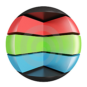 RGB Abstract Sphere Royalty Free Stock Photos - Image: 8417788