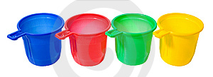 Set Of Color Cups Royalty Free Stock Photography - Image: 8418447