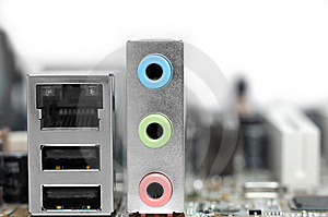 Colorful Motherboard Sockets Royalty Free Stock Images - Image: 8418469