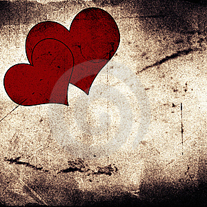 Two Hearts On Vintage Background Stock Images - Image: 8418514