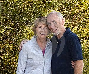 Romantic senior couple Free Stock Images