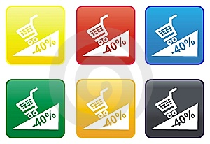 Promotion Web Button Stock Images - Image: 8419594