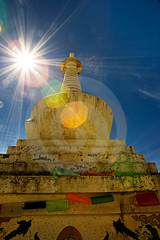 Day View Of Stupa At Deqing Sichuan Province China Royalty Free Stock Images - Image: 8419809