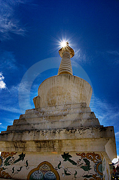 Day View Of Stupa At Deqing Sichuan Province China Stock Photos - Image: 8419813