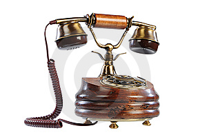 Isolated Old-fashioned Phone Stock Photos - Image: 8420893