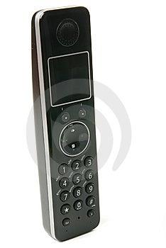 Il Telefono Nero Immagine Stock Libera da Diritti - Immagine: 8421036