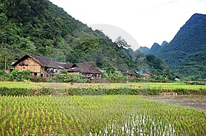 Village In The Mountain Stock Image - Image: 8421311