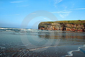 Cliffs At Ballybunion Stock Image - Image: 8422741