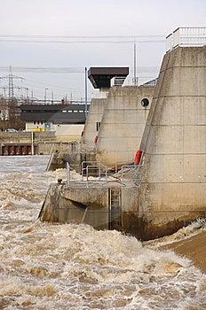 Krotzenburg Weir Stock Image - Image: 8422771
