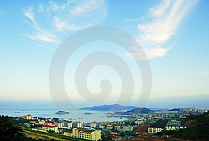 Seaside Town Royalty Free Stock Images - Image: 8422919