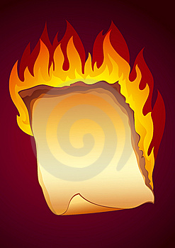 Burning Paper Background Stock Photo - Image: 8423240