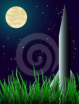 A Rocket On The Grass Stock Photos - Image: 8424193
