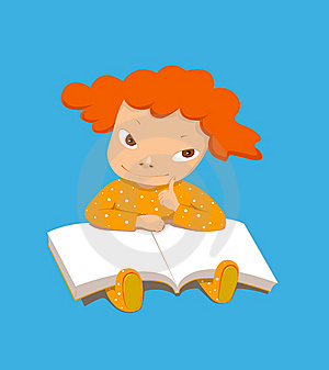 GIRL READING Stock Photo - Image: 8424470