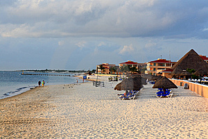 A Luxury All Inclusive Beach Resort At Morning Stock Images - Image: 8425264