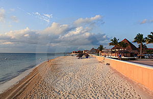 A Luxury All Inclusive Beach Resort At Morning Royalty Free Stock Photos - Image: 8425268
