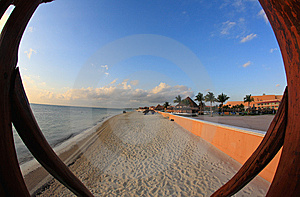 A Luxury All Inclusive Beach Resort At Morning Stock Photography - Image: 8425272