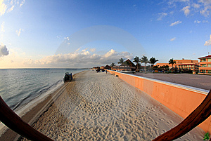 A Luxury All Inclusive Beach Resort At Morning Royalty Free Stock Photo - Image: 8425275