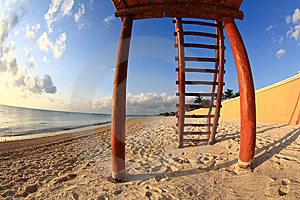 A Luxury All Inclusive Beach Resort At Morning Royalty Free Stock Image - Image: 8425276