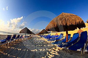 A Luxury All Inclusive Beach Resort At Morning Royalty Free Stock Photography - Image: 8425287