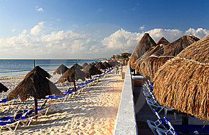 A Luxury All Inclusive Beach Resort At Morning Royalty Free Stock Images - Image: 8425289