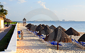 A Luxury All Inclusive Beach Resort At Morning Stock Image - Image: 8425291
