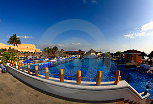 A Luxury All Inclusive Beach Resort At Morning Stock Photos - Image: 8425323