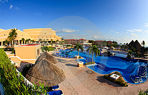 A Luxury All Inclusive Beach Resort At Morning Royalty Free Stock Photo - Image: 8425345