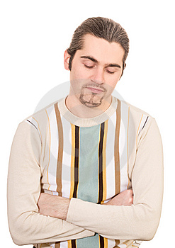 Disappointed Young Handsome Man In Sweater Royalty Free Stock Image - Image: 8426196