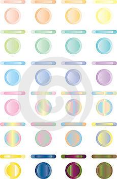 Button, Set Of Light Buttons Of Red, Blue, Green.. Royalty Free Stock Image - Image: 8426556