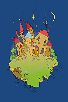 Old Castle In Night Time Royalty Free Stock Photo - Image: 8426795