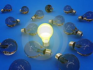 Glowing Bulb Lamp Royalty Free Stock Photography - Image: 8427007