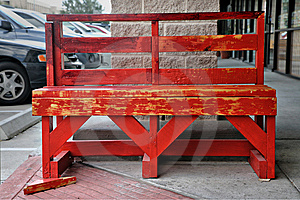 Red Bench Stock Images - Image: 8427254
