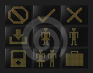 Led Effect Icons Formed By Balls Royalty Free Stock Photo - Image: 8427685