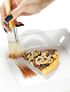 Stroke Of The Chocolate Brush Stock Image - Image: 8428671
