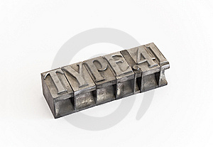 Metal Type (cast Metal Sort) Stock Image - Image: 8428971