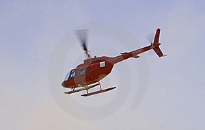 Hovering Helicopter Stock Photo - Image: 8429350