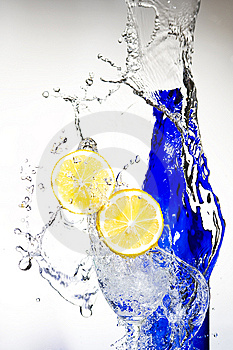 Lemon With Water Royalty Free Stock Photos - Image: 8429958