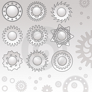Mechanical Web Buttons Royalty Free Stock Photography - Image: 8430297