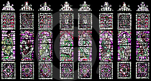 Windows With Religious Images Stock Photos - Image: 8430433