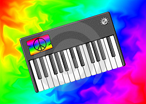 The Hippie Keyboard Stock Photo - Image: 8430900