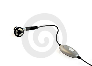 Earphone On White. Royalty Free Stock Images - Image: 8430979