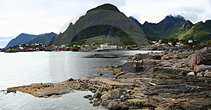 Fjord Shoreline In Norway Royalty Free Stock Photo - Image: 8431175