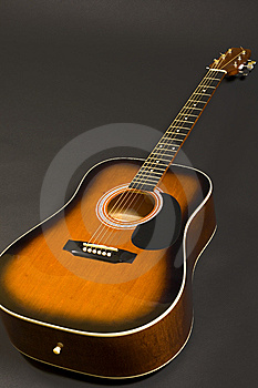 Closeup Of An Acoustical Guitar Stock Image - Image: 8431551