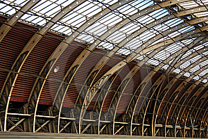 Train Station Roof Interior Royalty Free Stock Images - Image: 8432899