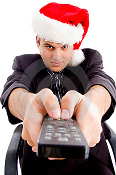 Man Holding Remote Control And Wearing Hat Stock Photography - Image: 8433262